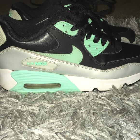 shoes, mint nike airmax, mint, air max, nike, mint green